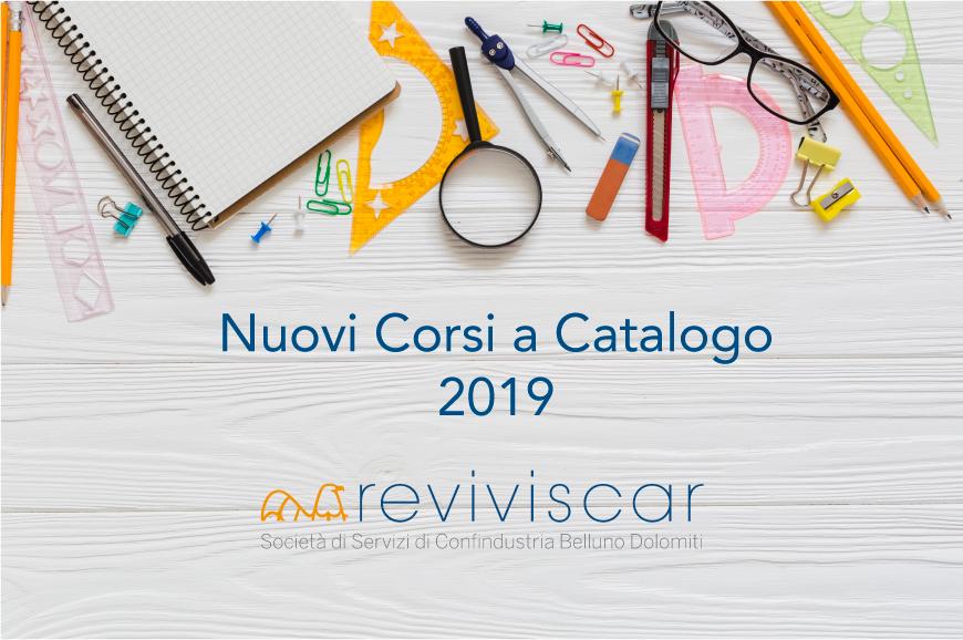 Nuovi Corsi a Catalogo 2019