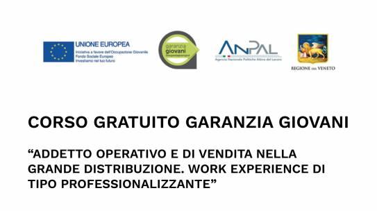 """Corso Gratuito Garanzia Giovani: Riapertura Selezioni """"Addetto Operativo e di Vendita nella Grande Distribuzione – Work Experience di tipo professionalizzante"""""""