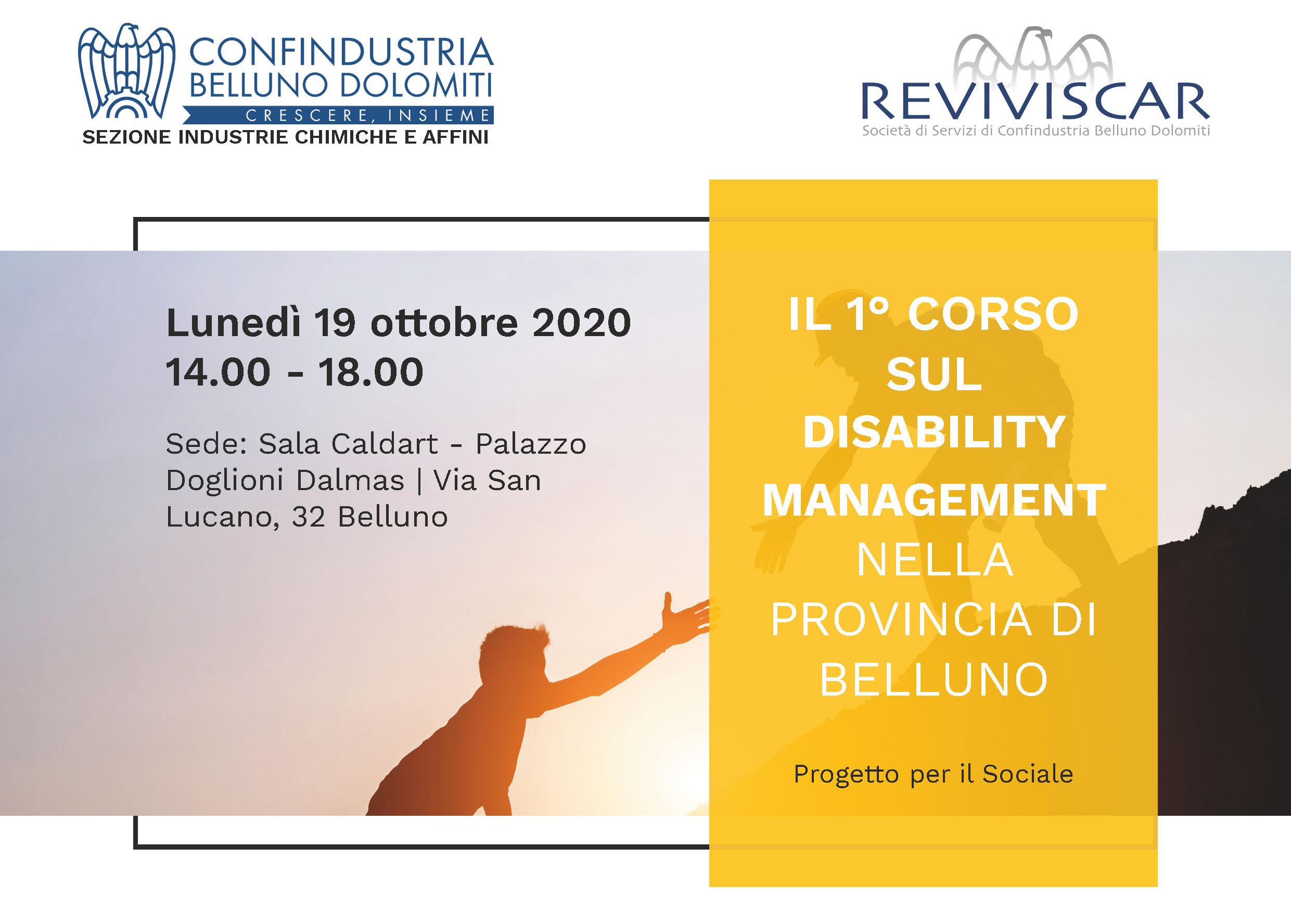 Progetto per il Sociale – Corso sul Disability Management